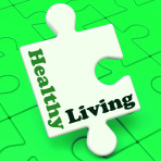 Healthy Living Showing Fitness And Nutrition Lifestyle