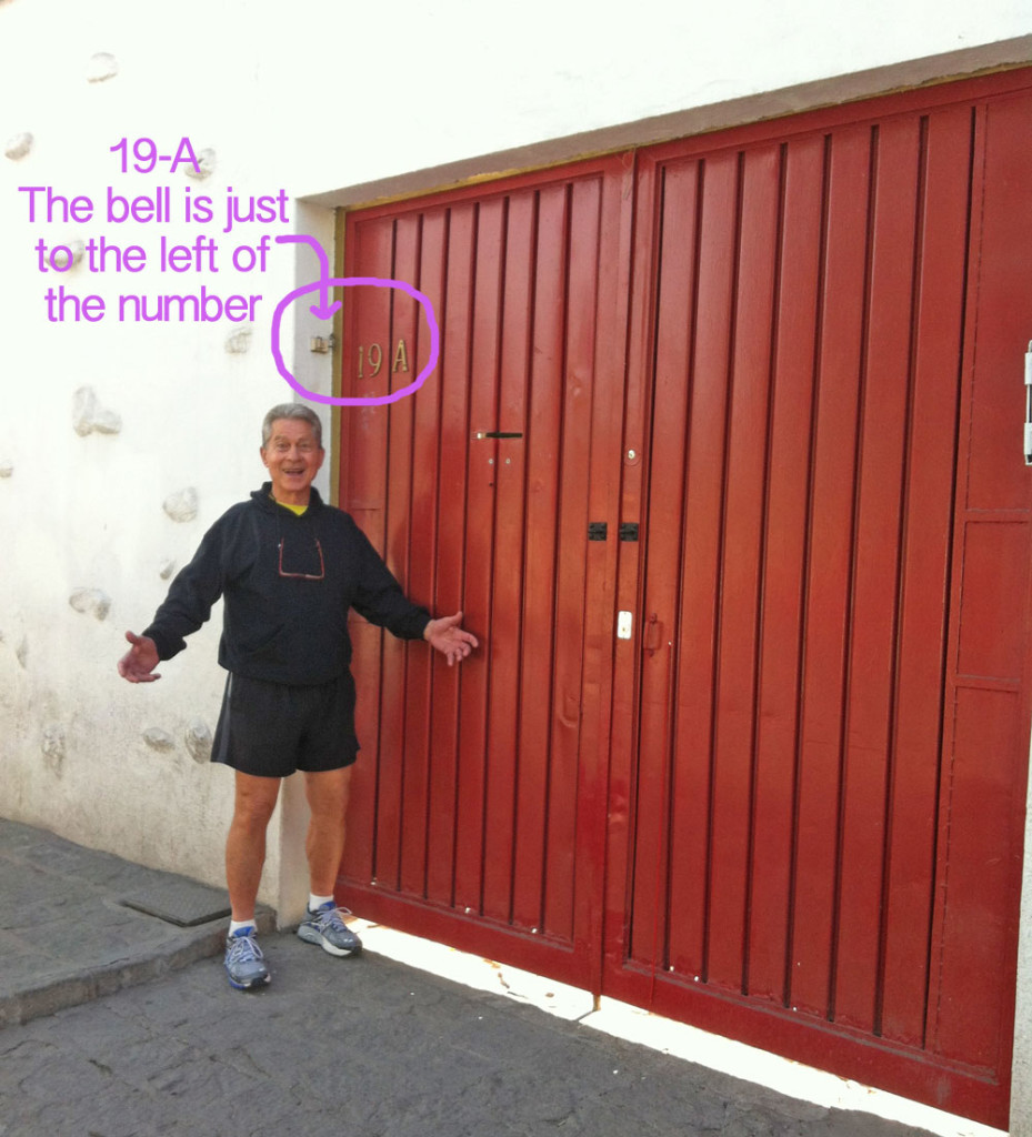 Here's Joe showing you our Bright Red door!